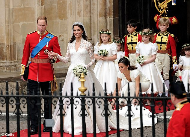 Magical wedding for a Royal bride... and even the vergers were doing cartwheels in the aisle Article-1381795-0BD3C0AC00000578-59_634x459