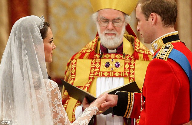 Magical wedding for a Royal bride... and even the vergers were doing cartwheels in the aisle Article-1381795-0BD479C600000578-124_634x414