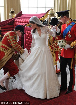 Magical wedding for a Royal bride... and even the vergers were doing cartwheels in the aisle Article-1381795-0BD486AC00000578-426_306x423