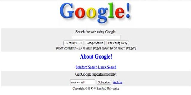 """قبل أن يحكم على الإنترنت : """"القديمة"""" الصفحات الرئيسية لنهر الأمازون، وجوجل وتغيرت العملاقين والفيسبوك """"سيتم عرض الكثير من الويب  Article-0-0F82826A00000578-829_638x318"""