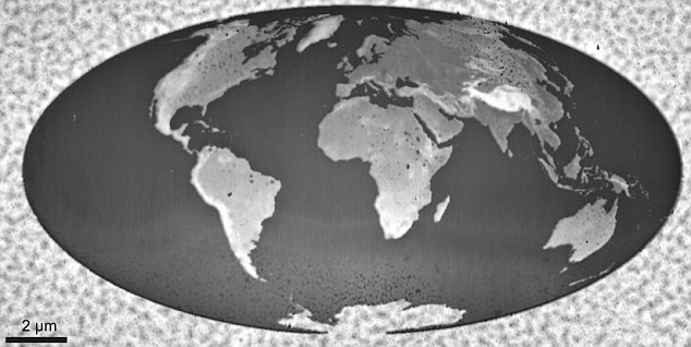 IBM creates world's smallest map... of the world   Article-2088736-0F865F3500000578-409_634x318