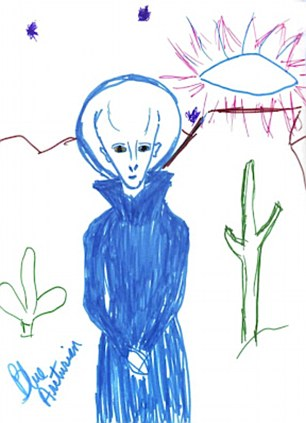 Our close encounters: Meet the alien abductees - and the pictures they drew to prove they weren't imagining it all...  Article-0-12D87C82000005DC-300_306x423