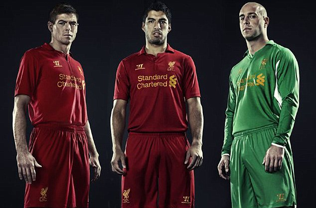 PREMIER LEAGUE NEW KIT SPECIAL: The strips your team will be wearing in 2012-13  Article-2128462-13094A32000005DC-911_634x417
