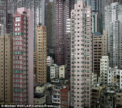 A wider view of the towers of Hong Kong