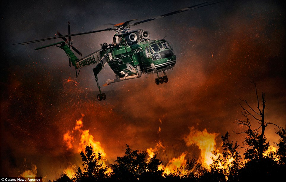 aeronaves - [Brasil] Fotos incríveis de aeronaves no combate aos incêndios florestais na Itália  Article-2335103-1A1F0899000005DC-112_964x613