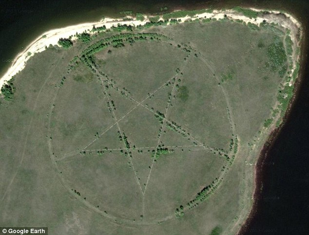 What the Devil is it Doing There? Mystery of Enormous Pentagram in Kazakhstan Visible on Google Earth Article-2383761-1B1D9D0C000005DC-493_634x483