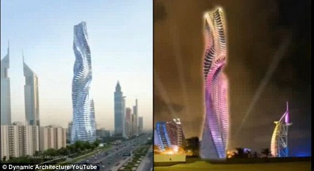 A revolutionary design! Architect designs skyscraper that rotates 360 degrees  Article-2384791-1B27D10F000005DC-253_634x345