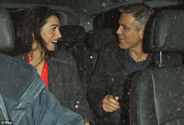 George Clooney at dinner in London Article-0-18F77CB500000578-706_634x429