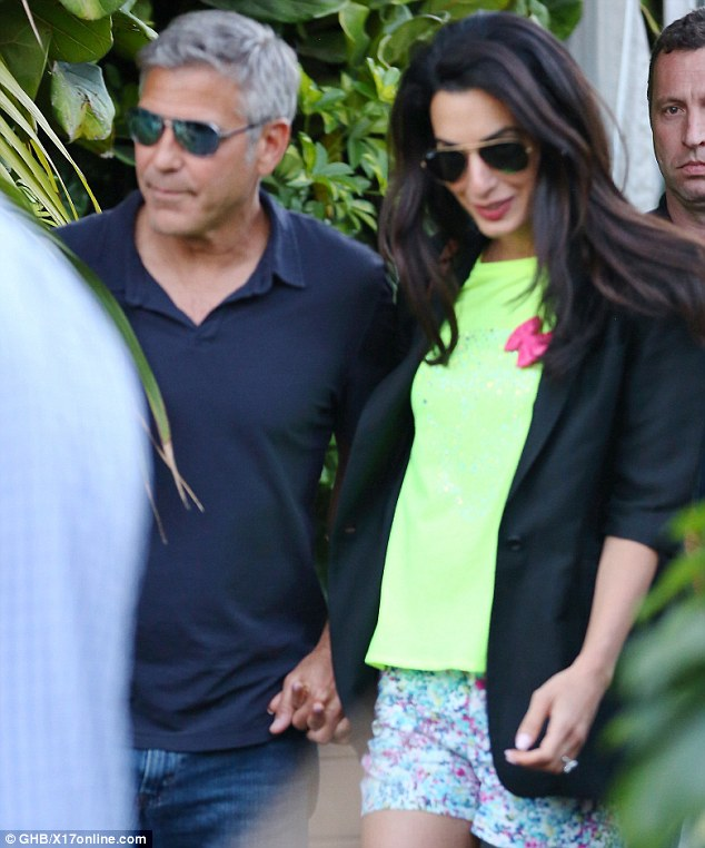 George Clooney & Amal Alamuddin Celebrate Their Engagement Surrounded By Celebrity Friends! Article-0-1DC3F5D600000578-286_634x762