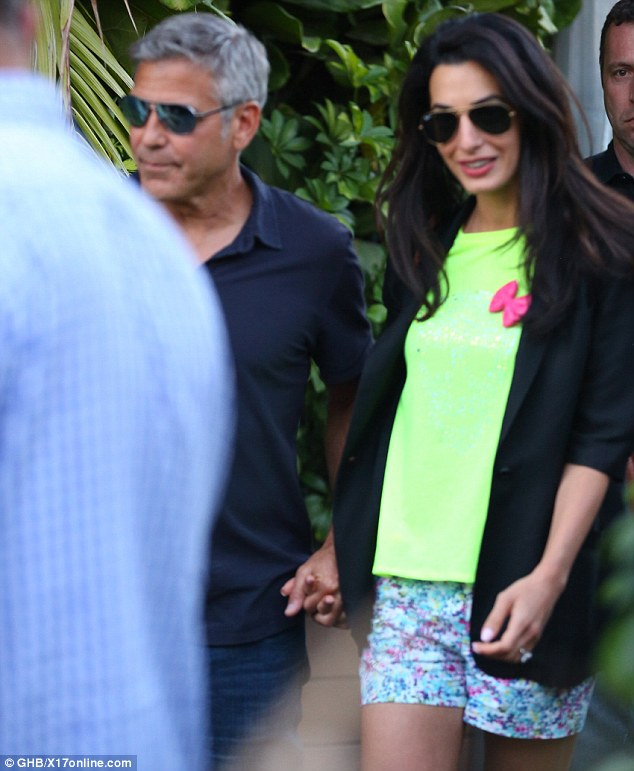 George Clooney & Amal Alamuddin Celebrate Their Engagement Surrounded By Celebrity Friends! Article-0-1DC3F77C00000578-515_634x771