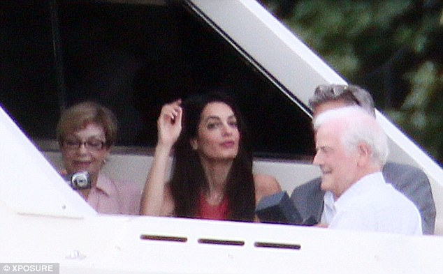 George Clooney and Amal and their parents on a family trip Article-2683670-1F7538FB00000578-226_634x393