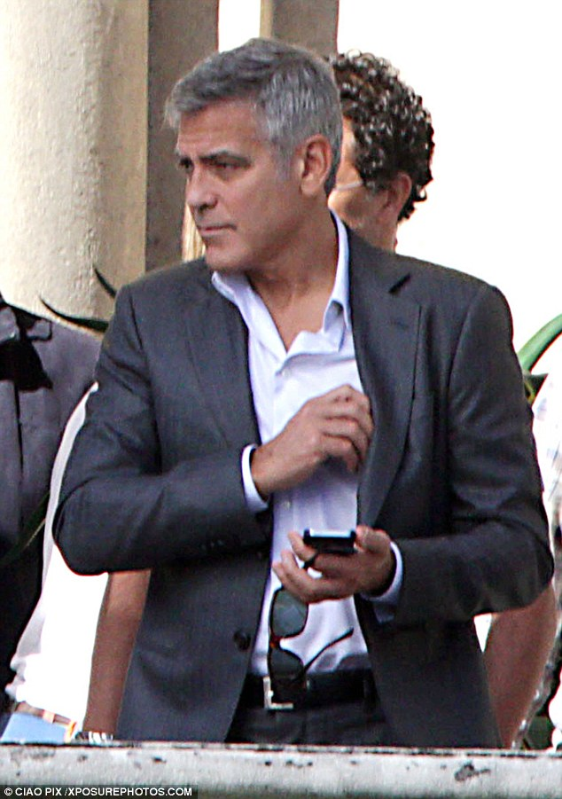 George Clooney and JEAN DUJARDIN doing a new NESPRESSO SPOT Article-2735851-20D771AA00000578-243_634x901