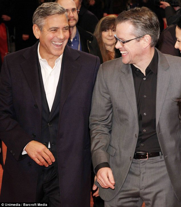 EXCLUSIVE: 'It's hard not to envy him!' Matt Damon opens up about his 'annoyingly talented' friend George Clooney    Article-2740775-20FEBD8F00000578-809_634x724