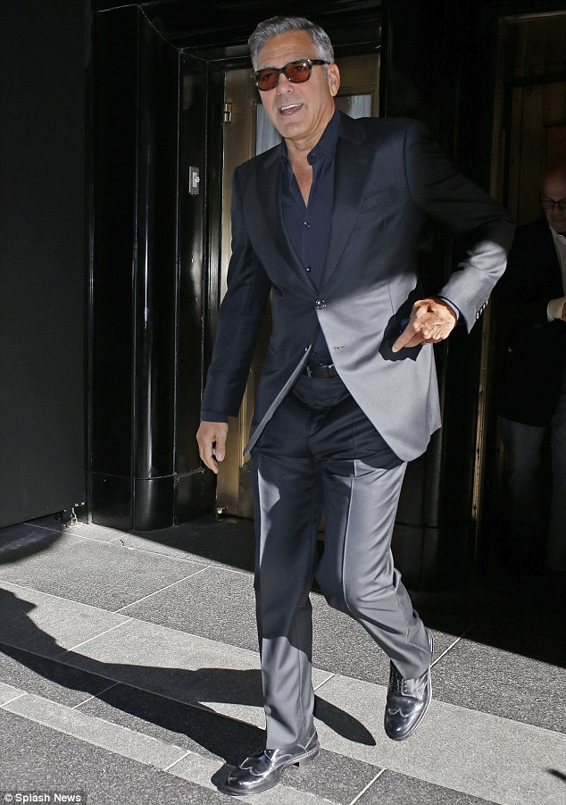 George Clooney at the Carlyle hotel NYC  1412872944293_Image_galleryImage_EXCLUSIVE_George_Clooney_