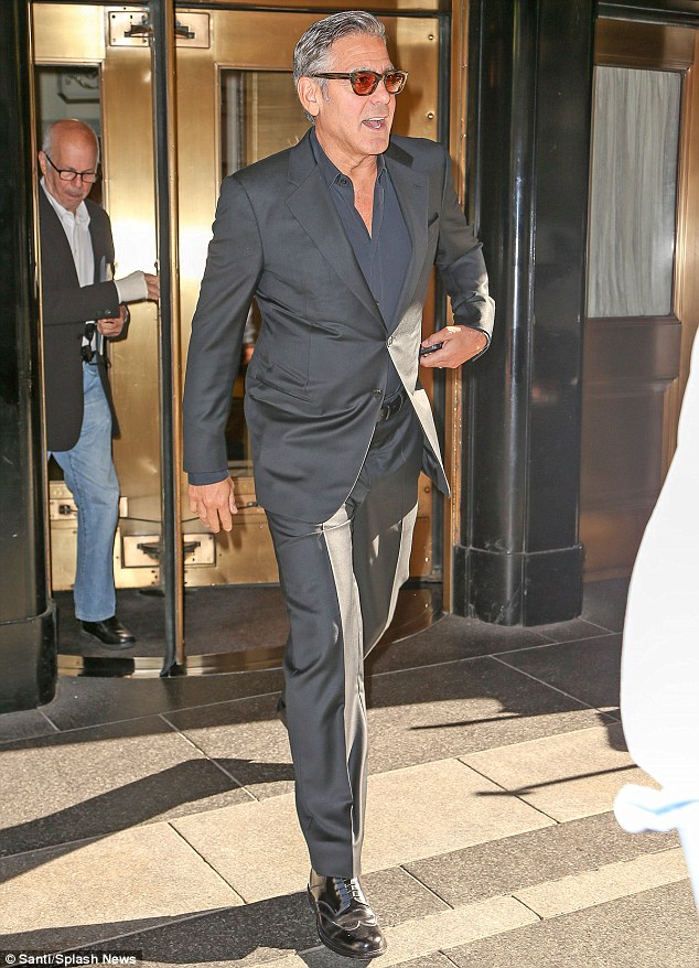 George Clooney at the Carlyle hotel NYC  1412873113922_Image_galleryImage_EXCLUSIVE_George_Clooney_