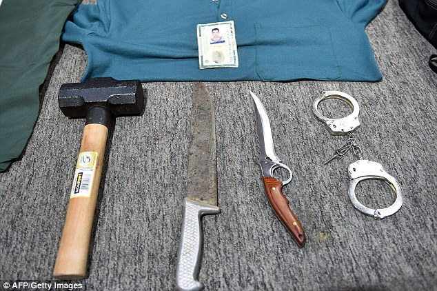 400 plus street children - As young as 14 -  / Confessed killer: Thiago Henrique Gomes da Rocha - Goiania, Brazil 1413476576719_wps_112_Picture_of_objects_seized