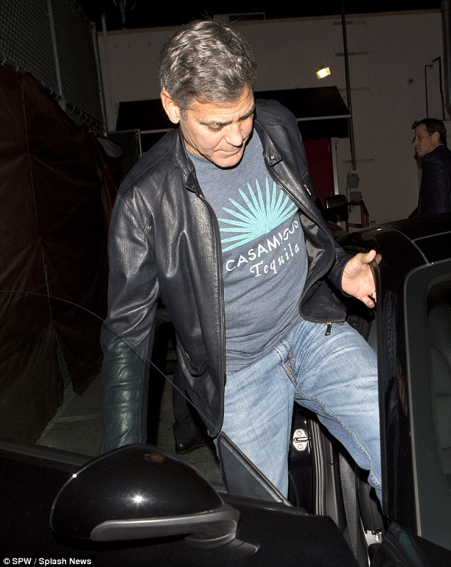 George Clooney out at Saturday night in Hollywood 1413757246851_wps_43_George_Clooney_and_his_go