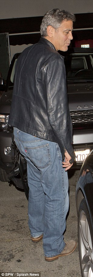 George Clooney out at Saturday night in Hollywood 1413757307047_wps_45_George_Clooney_and_his_go