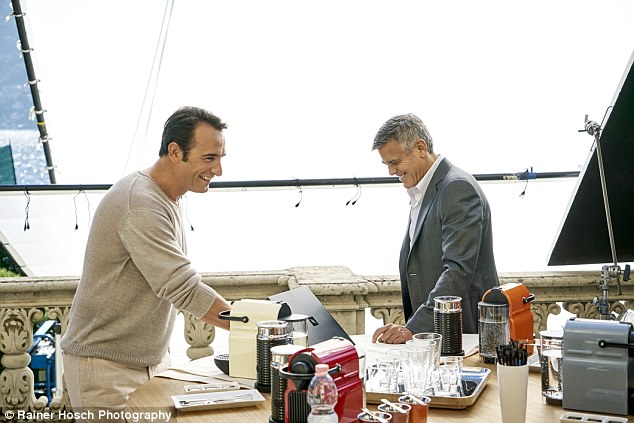 George Clooney and JEAN DUJARDIN doing a new NESPRESSO SPOT - Page 4 1414662286349_wps_37_NOT_FOR_USE_IN_THE_US_and