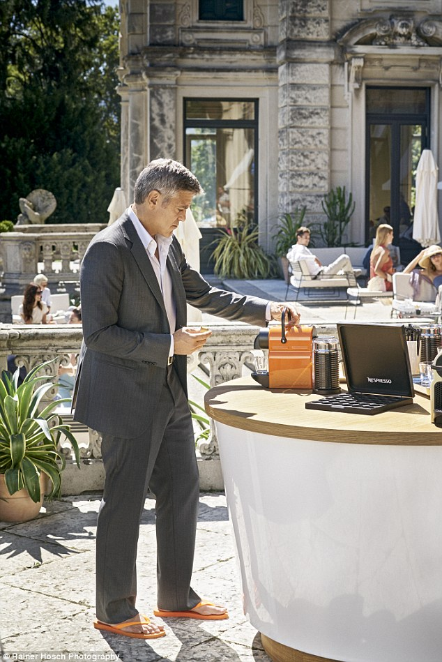 George Clooney and JEAN DUJARDIN doing a new NESPRESSO SPOT - Page 4 1414664732620_wps_50_NOT_FOR_USE_IN_THE_US_and