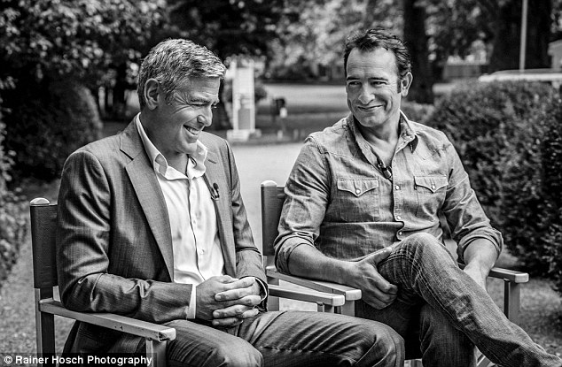 George Clooney and JEAN DUJARDIN doing a new NESPRESSO SPOT - Page 4 1414665823002_wps_54_NOT_FOR_USE_IN_THE_US_and