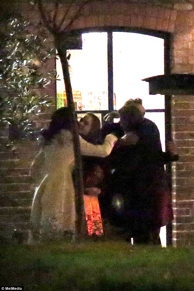 Fashionable friends: George and Amal Clooney dine out with Stella McCartney and Alasdhair Willis at The River Cafe 234BAC3100000578-2841024-Farewells_The_couples_hug_each_other_goodbye_and_head_off_to_the-5_1416414340490