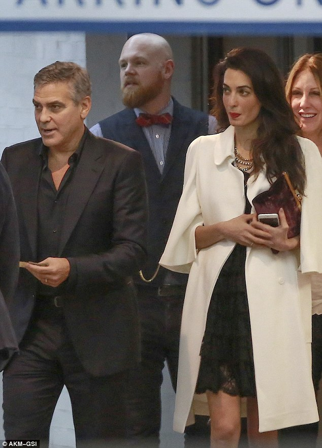 George and Amal Clooney's Date Night at Soho House in West Hollywood 23E20DE900000578-2865724-image-m-24_1418057138869
