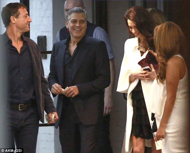 George and Amal Clooney's Date Night at Soho House in West Hollywood 23E2109D00000578-2865724-image-m-34_1418057644540