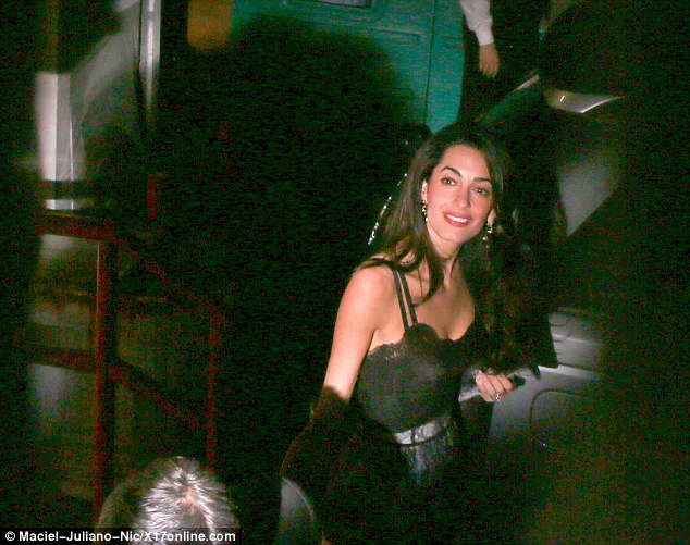 George Clooney and wife at Craig's restaurant in Hollywood 240B898900000578-0-image-a-29_1418577734584