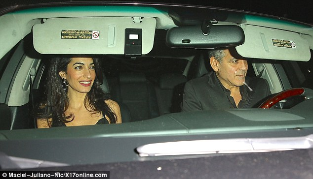 George Clooney and wife at Craig's restaurant in Hollywood 240B8C7F00000578-0-image-m-28_1418577718755