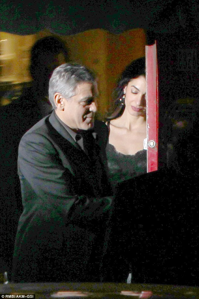 George Clooney and wife at Craig's restaurant in Hollywood 240C109700000578-2873612-image-a-35_1418581188253