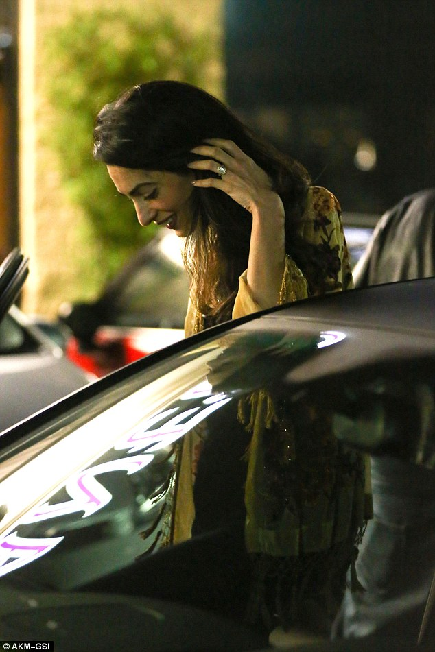 George Clooney and Amal back at Asanebo Sushi restaurant in Studio City 240F4C8800000578-0-image-a-13_1418633085763