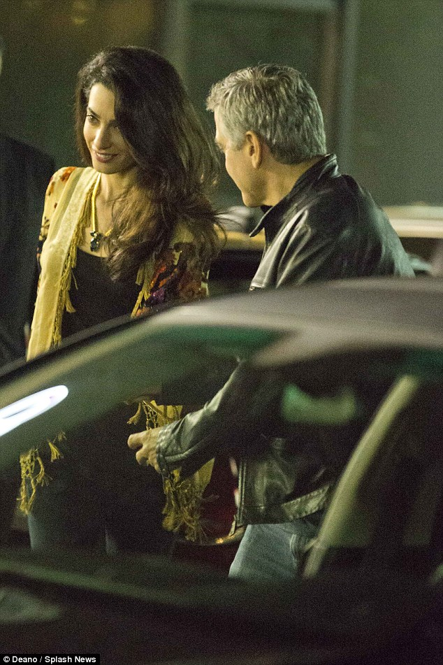 George Clooney and Amal back at Asanebo Sushi restaurant in Studio City 240F542700000578-0-image-a-11_1418633071822