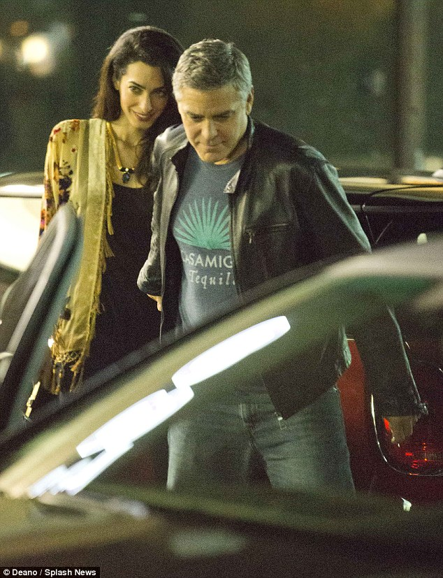 George Clooney and Amal back at Asanebo Sushi restaurant in Studio City 240F542F00000578-0-image-m-15_1418633459203