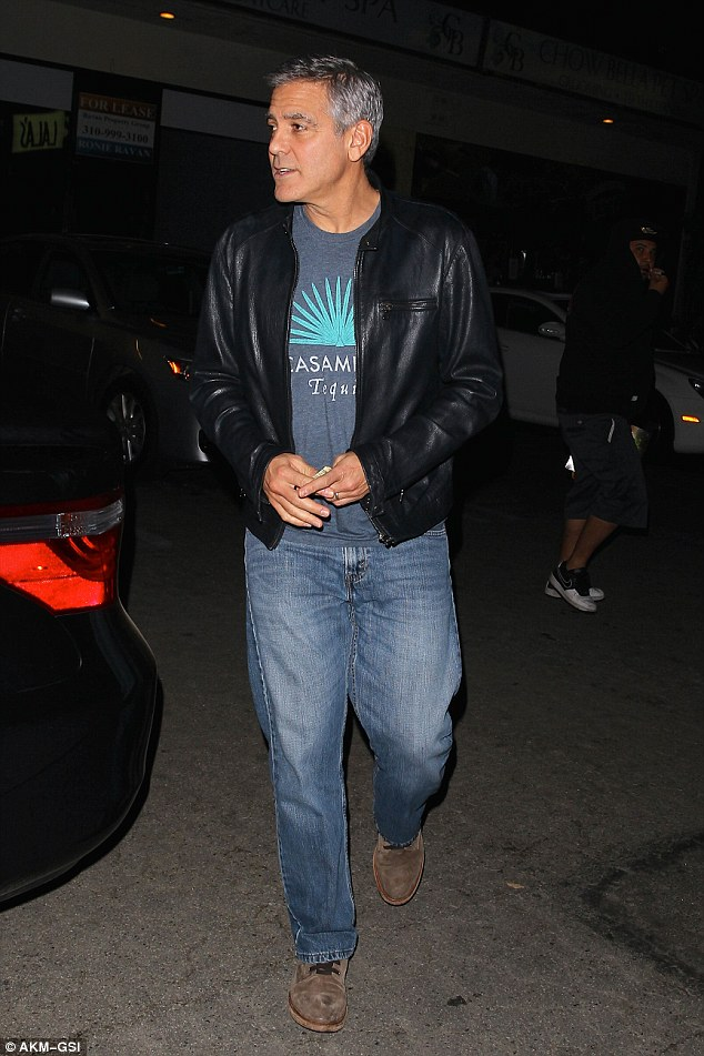 George Clooney and Amal back at Asanebo Sushi restaurant in Studio City 240F5A8A00000578-0-image-a-5_1418632752352