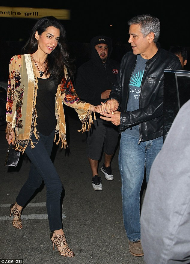 George Clooney and Amal back at Asanebo Sushi restaurant in Studio City 240F5ABE00000578-0-image-a-2_1418632702457