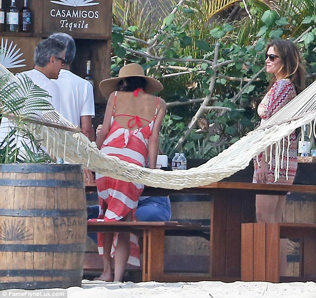 George Clooney enjoys another day in Mexico - but this time his parents join the fun 2449406500000578-0-image-m-99_1419800399627