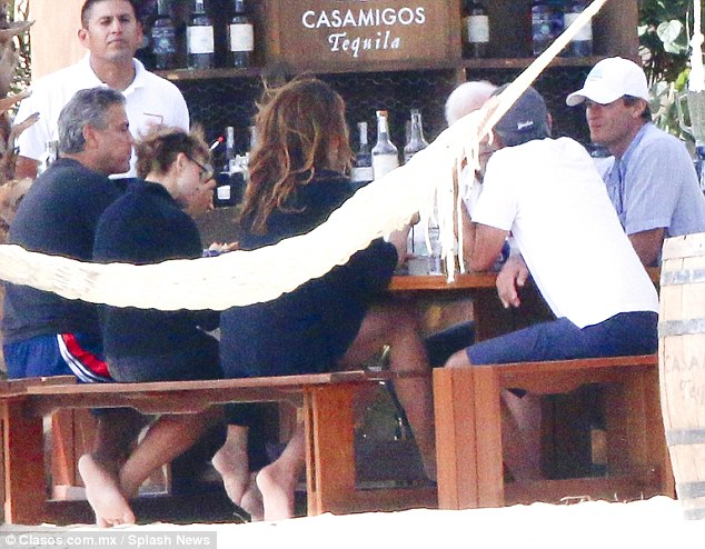 George Clooney enjoys another day in Mexico - but this time his parents join the fun 244D33C700000578-0-image-m-97_1419800062970