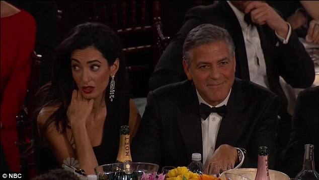 George Clooney at the Golden Globes January 2015 - Page 3 249D3DED00000578-2906190-image-a-11_1421039518388