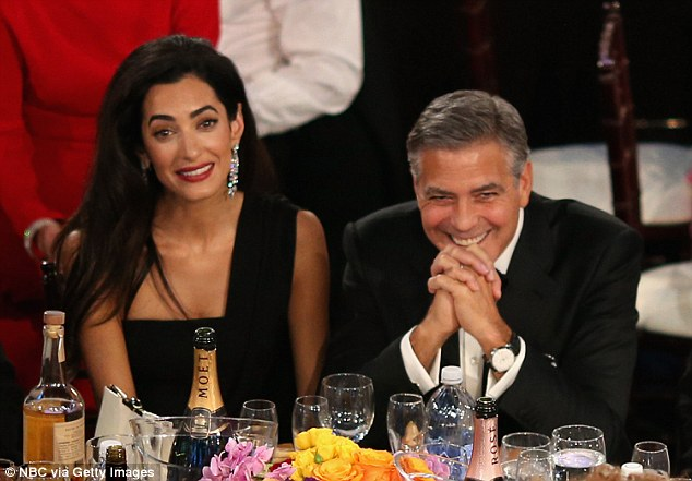George Clooney at the Golden Globes January 2015 - Page 3 249F14EE00000578-2906190-image-a-99_1421054759275