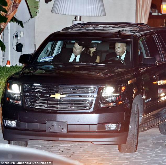 George and Amal Clooney head to dinner after their first Golden Globes appearance  24A61BF900000578-2907500-image-m-30_1421110394776