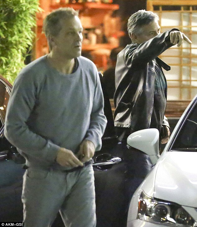 George Clooney at his favourite sushi restaurant, Asanebo, in Studio City 252969AC00000578-2931481-image-m-42_1422541219614