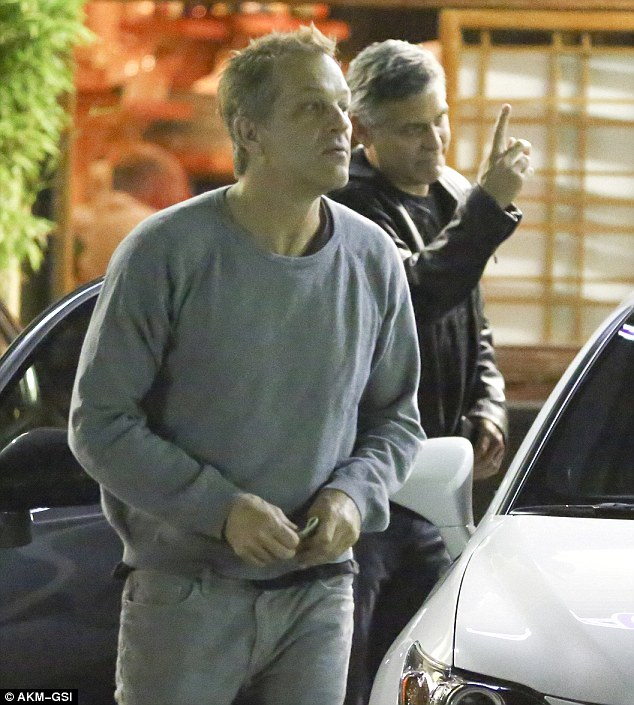 George Clooney at his favourite sushi restaurant, Asanebo, in Studio City 25296F2200000578-2931481-Boys_night_out_The_actor_was_without_his_human_rights_lawyer_wif-m-45_1422541639688