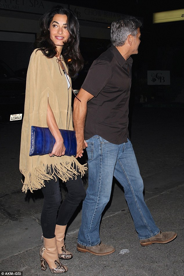 George and Amal Clooney Their First Valentine's Day 25C1888C00000578-2956815-image-a-6_1424168492641