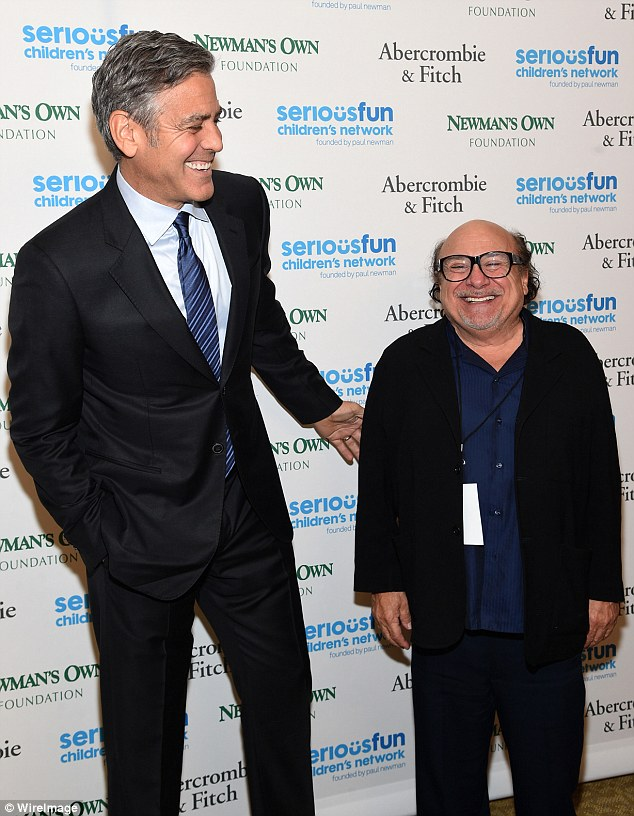 George Clooney at the SeriousFun Children's Network's Gala in New York City. 2642622100000578-2976714-Sharing_laughs_The_dynamic_duo_couldn_t_stop_laughing_while_posi-m-9_1425346763641