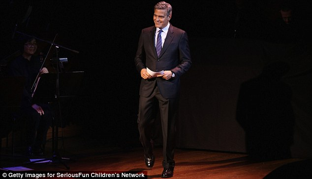 George Clooney at the SeriousFun Children's Network's Gala in New York City. 2642EE1200000578-2976714-image-m-102_1425347417662