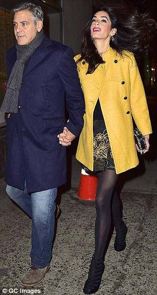 George Clooney and Amal out for dinner on the Upper East Side at Kappo Masa 266DB41300000578-0-image-m-81_1425783711527