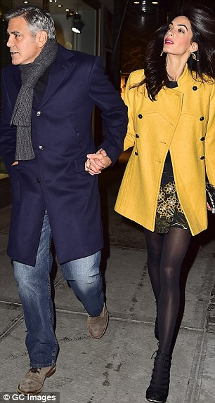 George Clooney and Amal out for dinner on the Upper East Side at Kappo Masa 266DB42B00000578-0-image-a-82_1425783731139