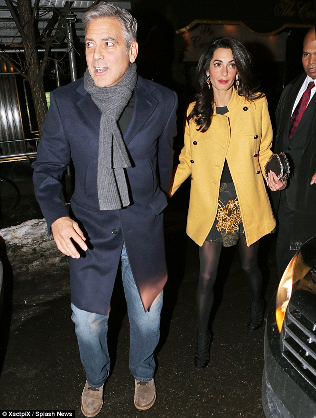 George Clooney and Amal out for dinner on the Upper East Side at Kappo Masa 266DB42F00000578-0-image-m-84_1425783780362
