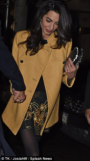 George Clooney and Amal out for dinner on the Upper East Side at Kappo Masa 266DB4E700000578-0-image-m-94_1425784061136